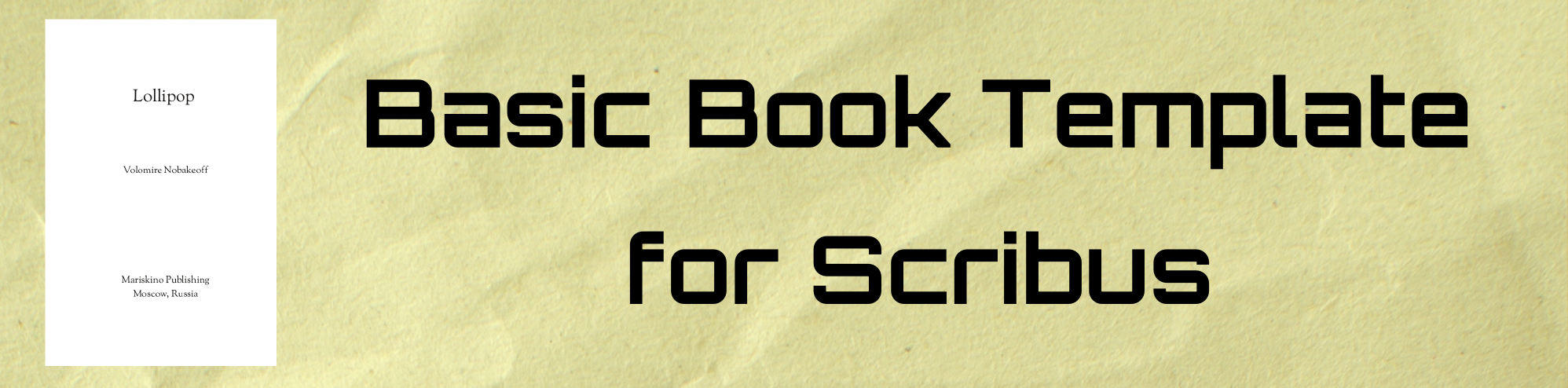 basic book template for scribus john osterhout