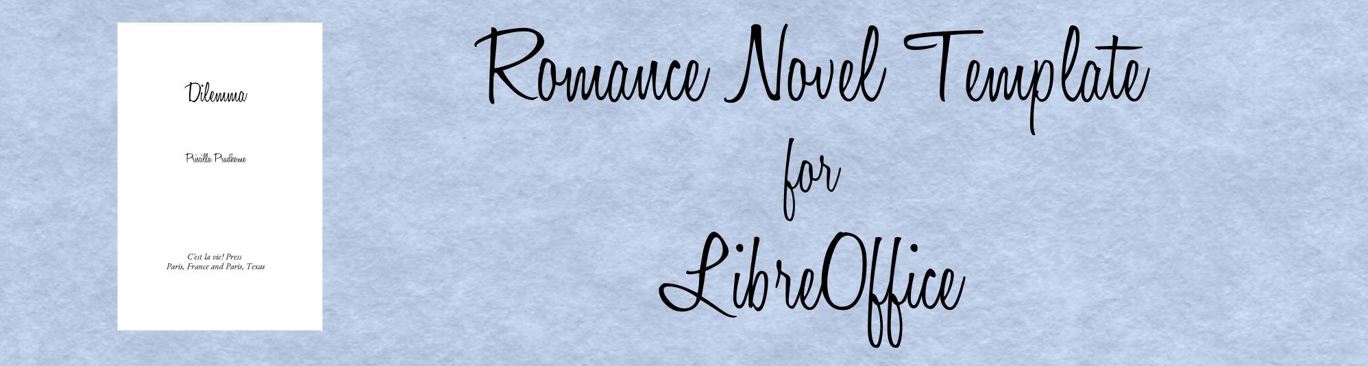 romance novel template for libreoffice john osterhout